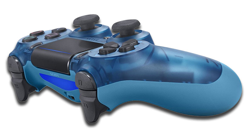 Dualshock 4v2 blue translucent gamepad