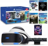 Playstation VR v2 + Playstation 4 kamera v2 + 5 her