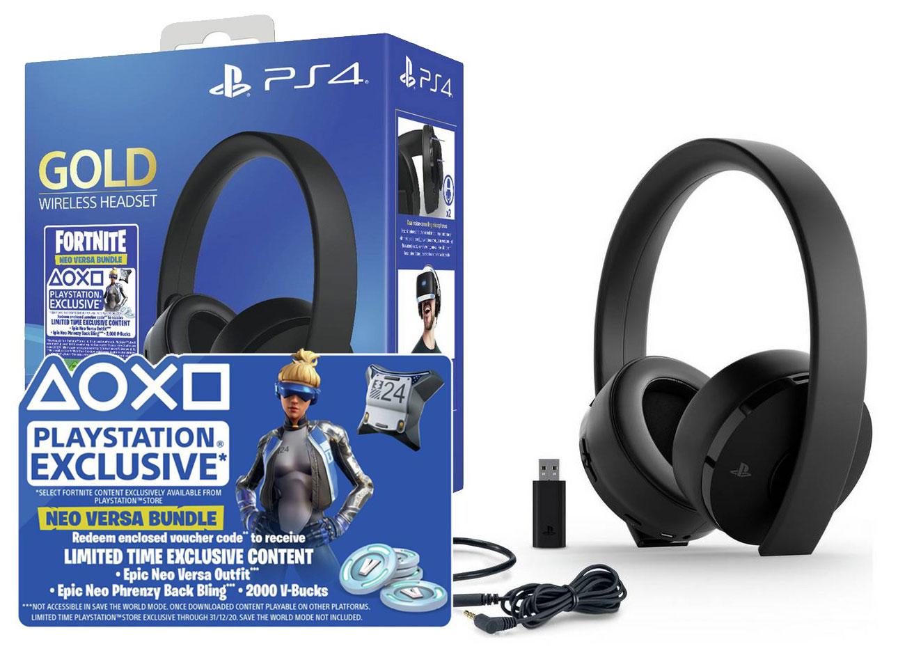 Sony Wireless Gold 7.1 Fortnite PS4 headset