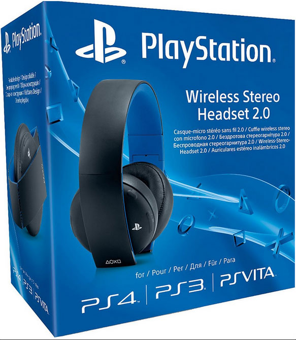 Sony Wireless Stereo Headset v2 pro PS3, PS4 a PS Vita