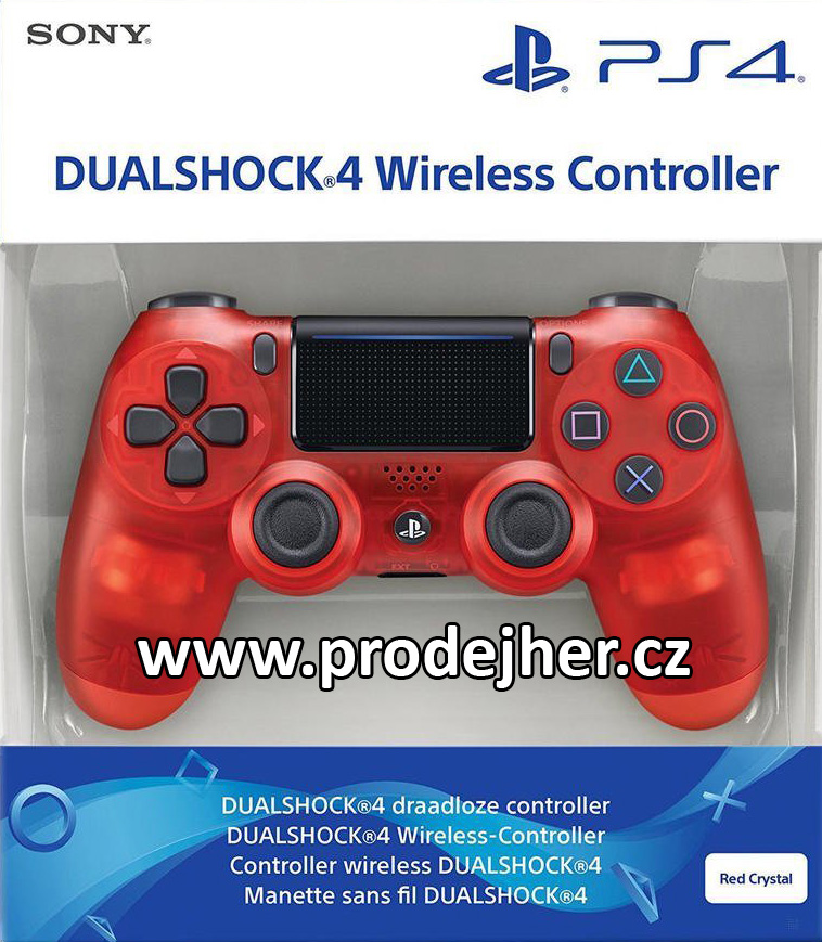 Sony Dualshock 4 v2 RED Crystal