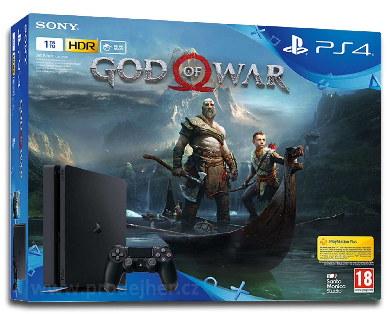 Playstation 4 Slim 1TB + God of War PS4 CZ