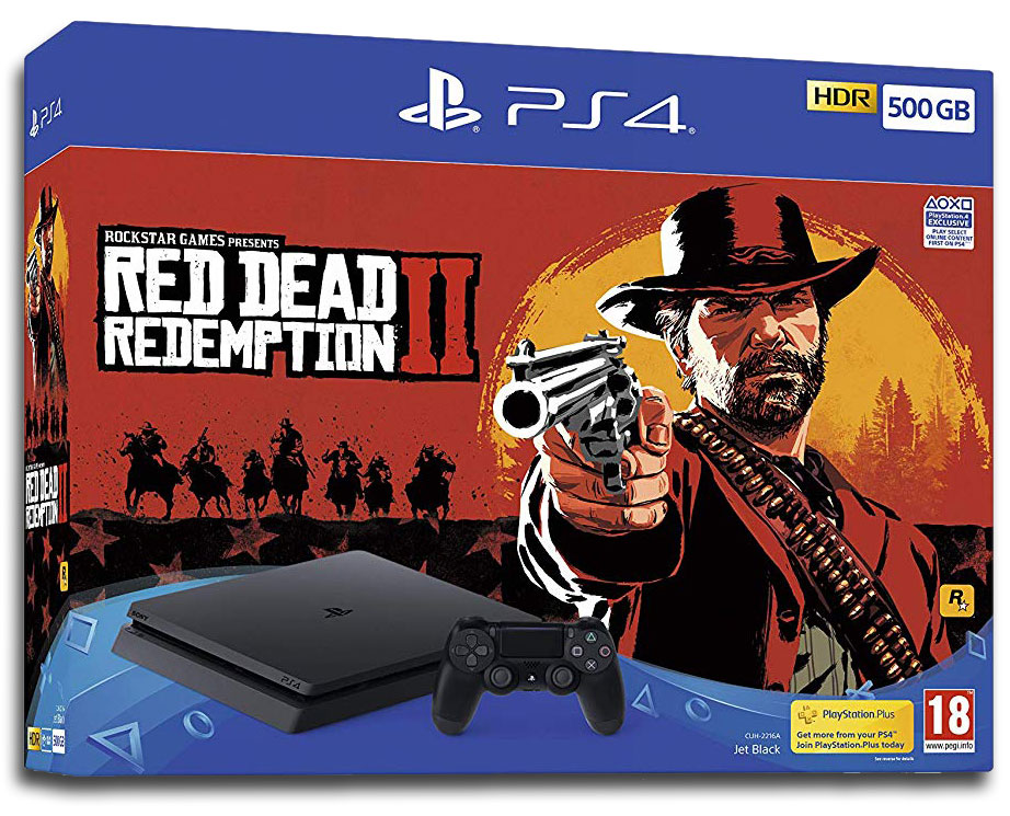 Playstation 4 Slim 500 GB Red Dead Redemption 2 bundle