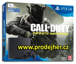 Playstation 4 1TB Slim + 2 ks Dualshock 4 ovladače + hra Call of Duty: Infinite