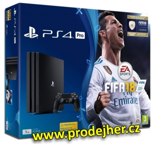 Playstation 4 Pro 1TB + FIFA 18 + PS Plus 14 dní