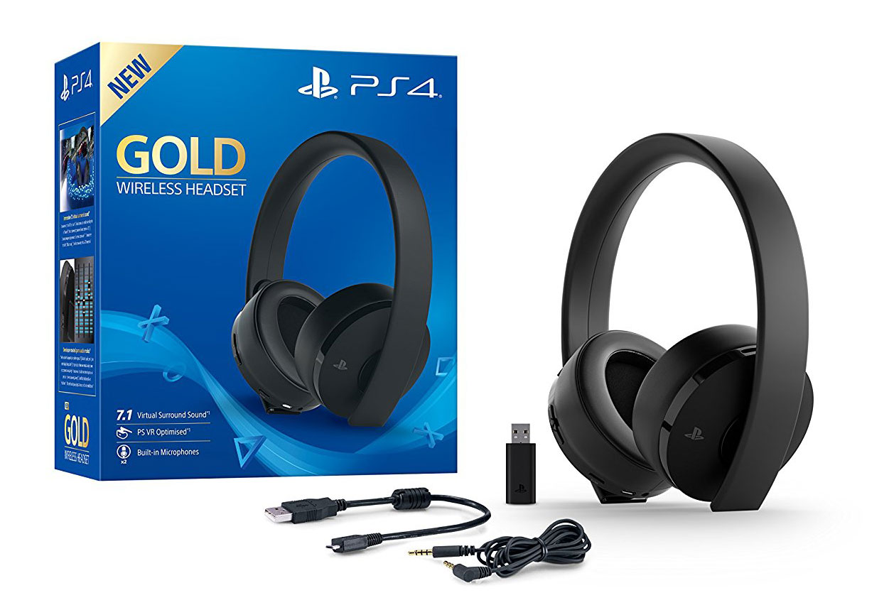 Sony Wireless Gold 7.1 PS4 headset