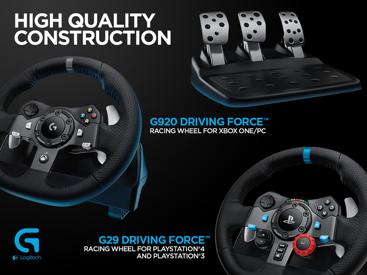 Logitech G29 Driving Force volant na Playstation 4