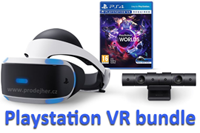 Sony Playstation VR bundle s kamerou a hrou VR Worlds
