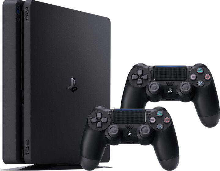 Playstation 4 Slim 1 TB HDD + 2 dualshock 4 ovladače