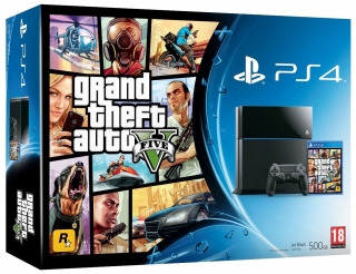 Sony Playstation 4 500GB + GTA 5 PS4 hra